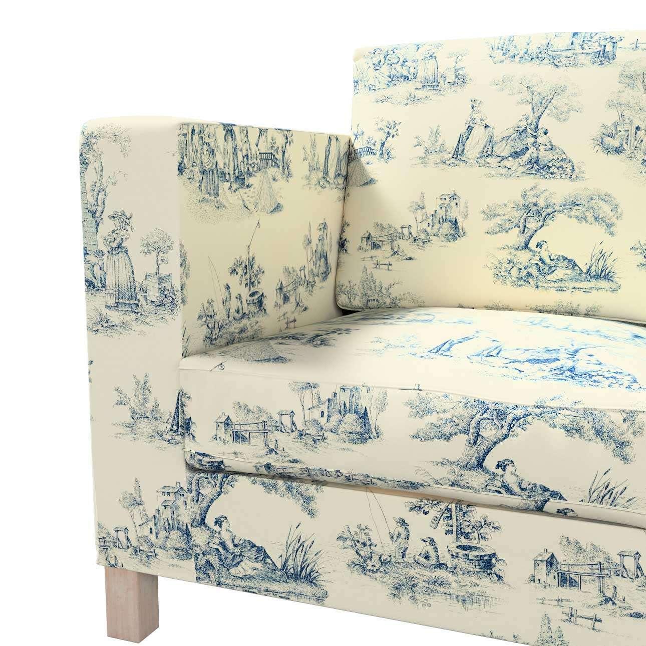 Bezug für Karlanda 3-Sitzer Sofa nicht ausklappbar, kurz von der Kollektion Avinon, Stoff: 132-66