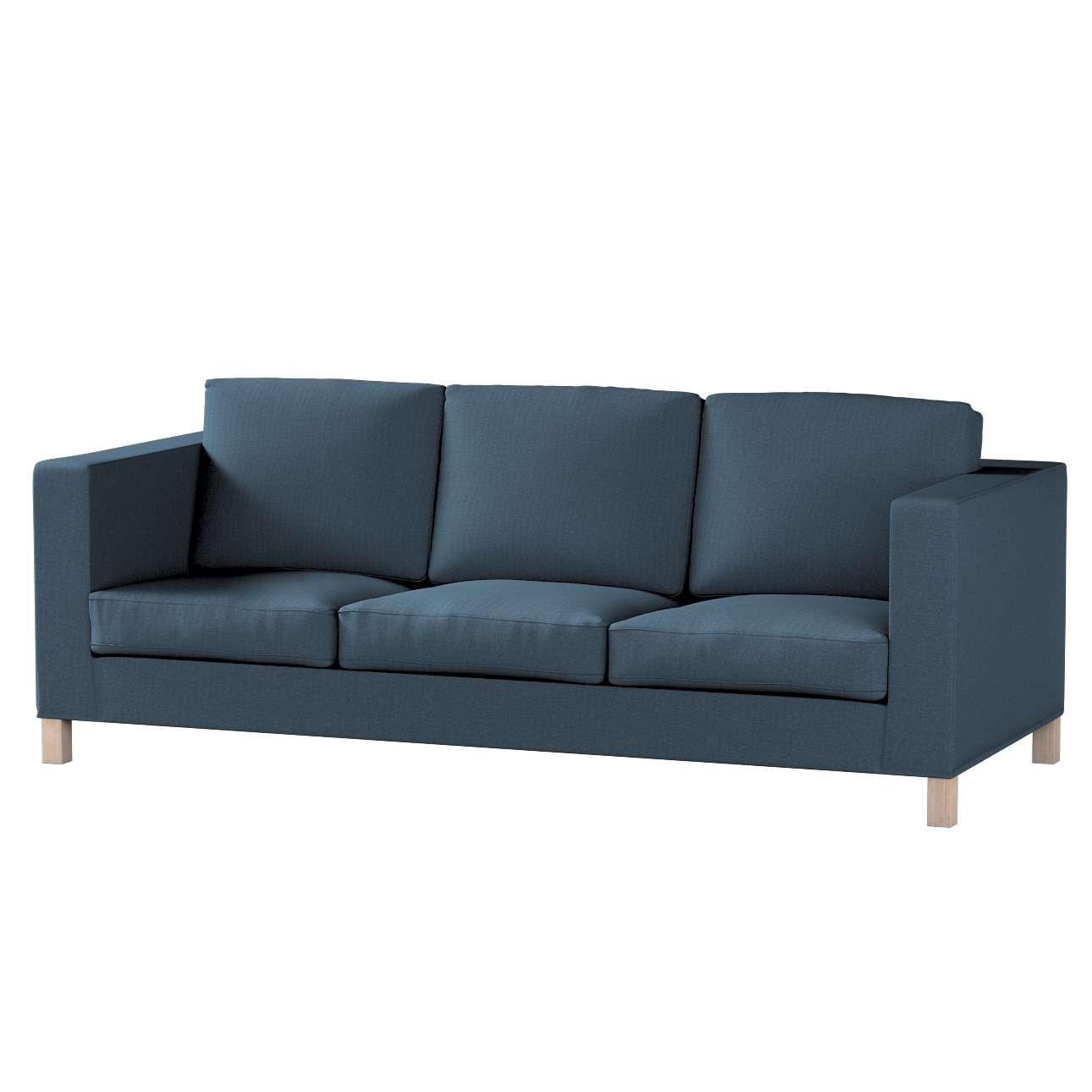 Karlanda klädsel <br>3-sits soffa - kort klädsel i kollektionen Etna, Tyg: 705-30