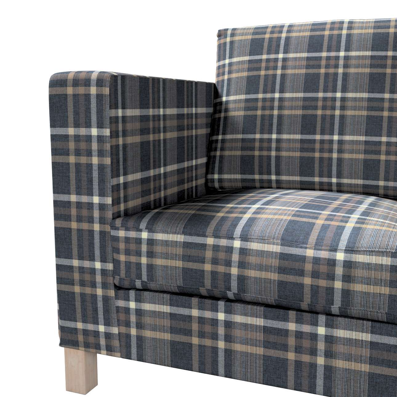Bezug für Karlanda 3-Sitzer Sofa nicht ausklappbar, kurz von der Kollektion Edinburgh , Stoff: 703-16
