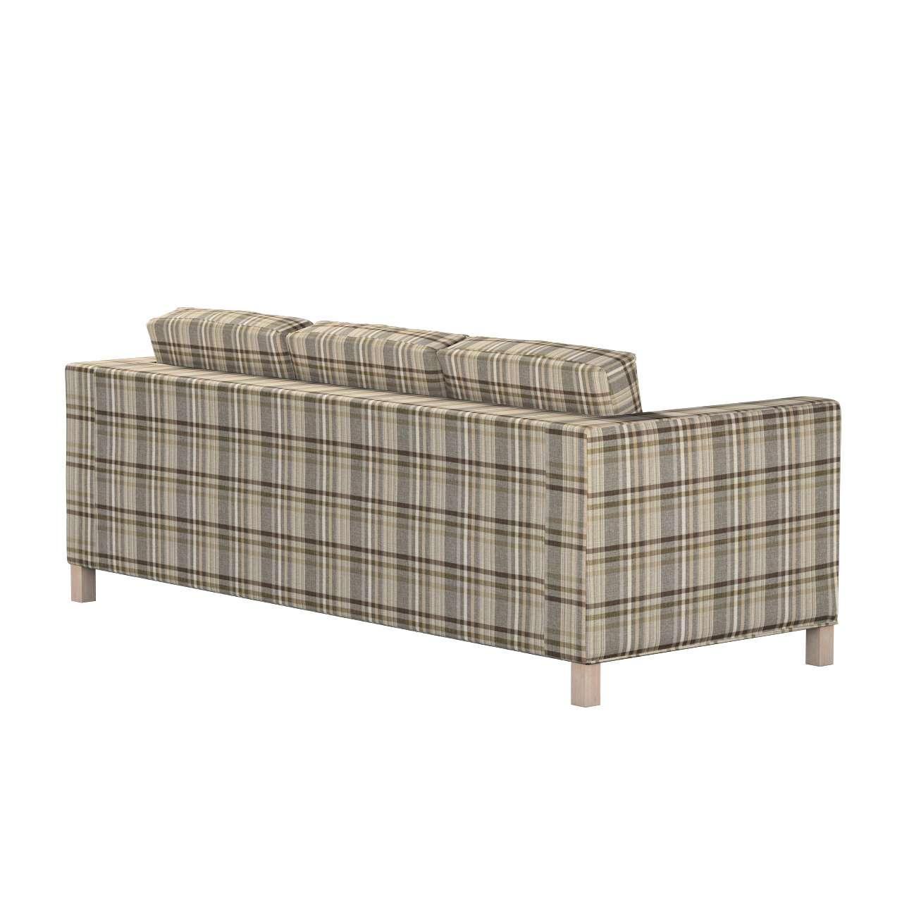 Pokrowiec na sofę Karlanda 3-osobową nierozkładaną, krótki w kolekcji Edinburgh, tkanina: 703-17
