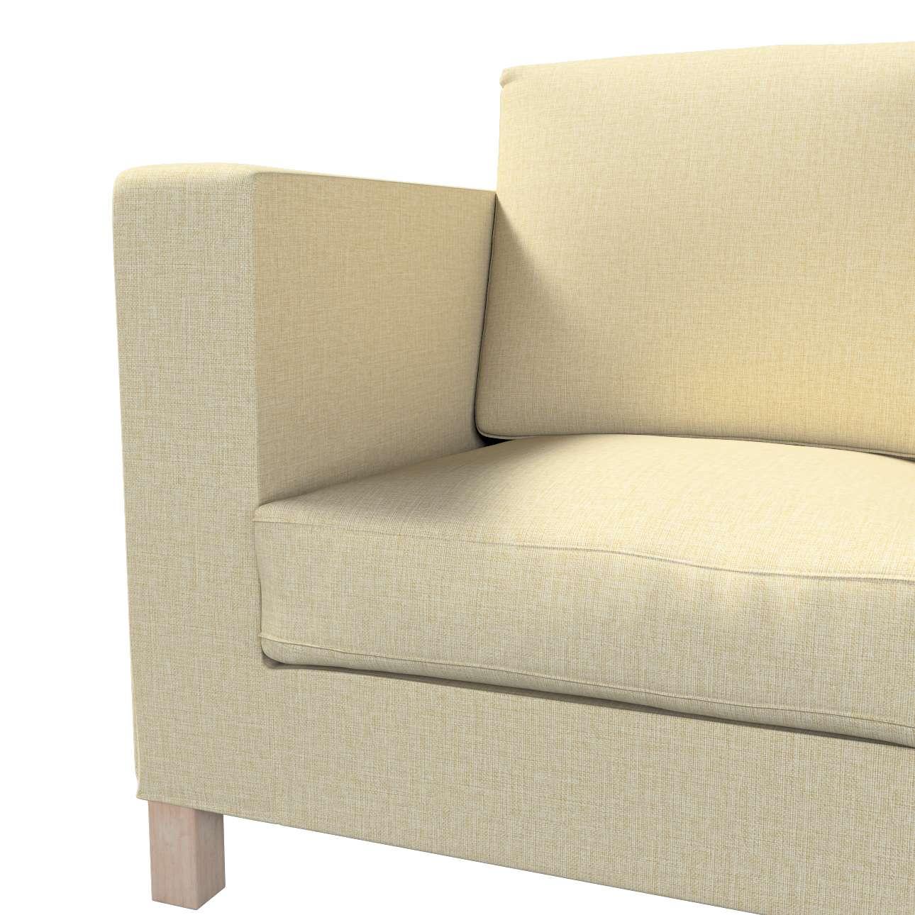 Pokrowiec na sofę Karlanda 3-osobową nierozkładaną, krótki w kolekcji Living, tkanina: 161-45