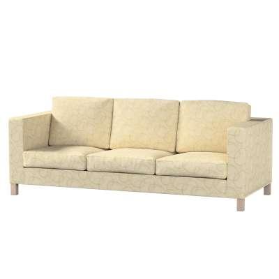 Pokrowiec na sofę Karlanda 3-osobową nierozkładaną, krótki w kolekcji Living, tkanina: 161-81