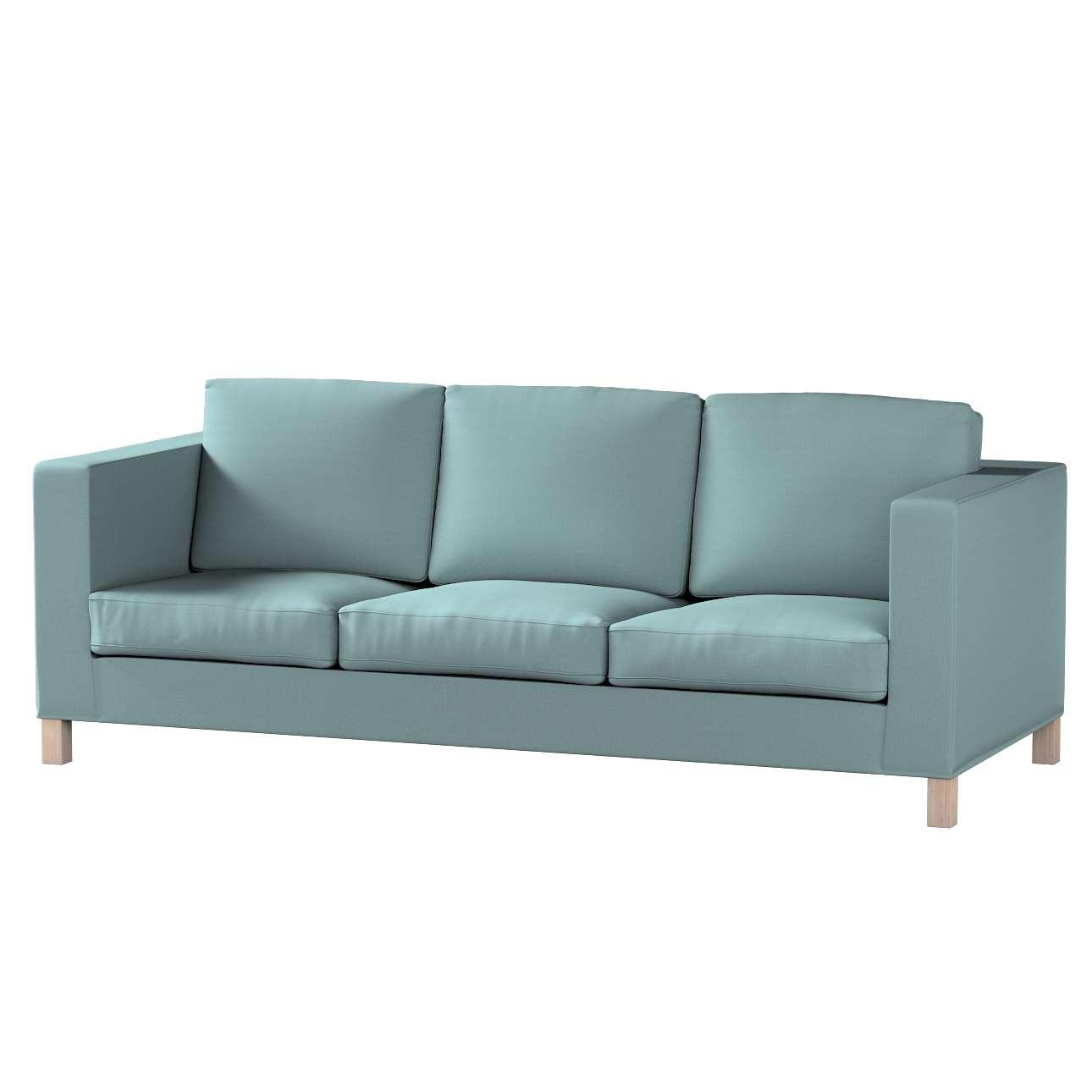Pokrowiec na sofę Karlanda 3-osobową nierozkładaną, krótki w kolekcji Cotton Panama, tkanina: 702-40