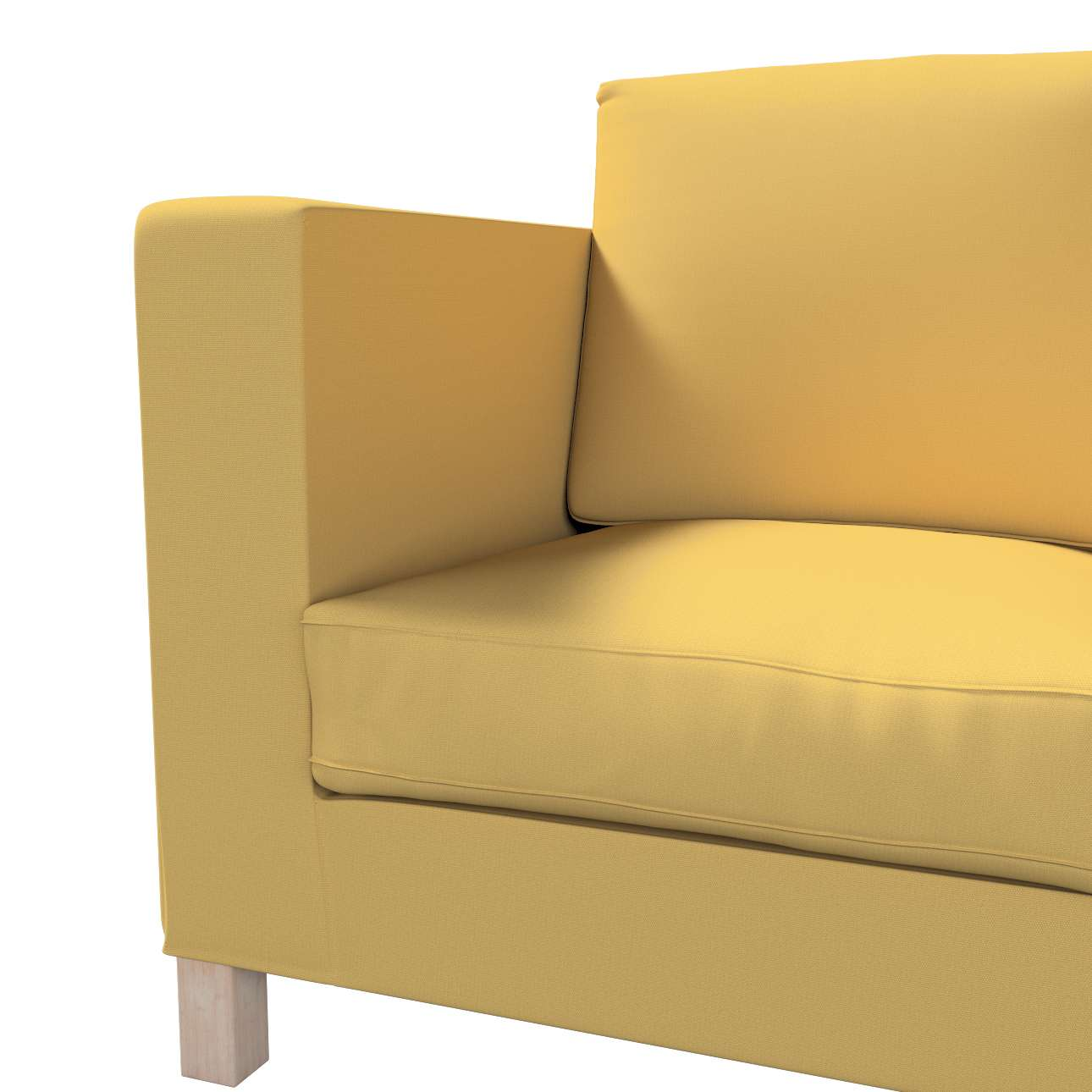 Karlanda klädsel <br>3-sits soffa - kort klädsel i kollektionen Panama Cotton, Tyg: 702-41