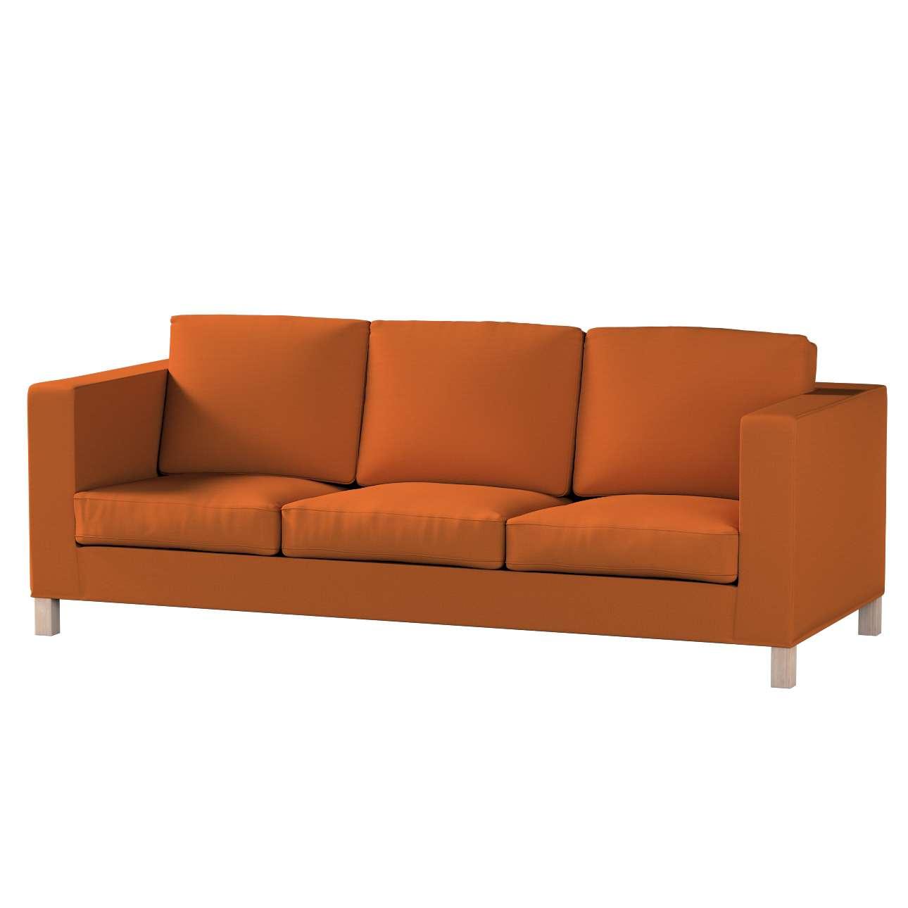 Bezug für Karlanda 3-Sitzer Sofa nicht ausklappbar, kurz von der Kollektion Cotton Panama, Stoff: 702-42