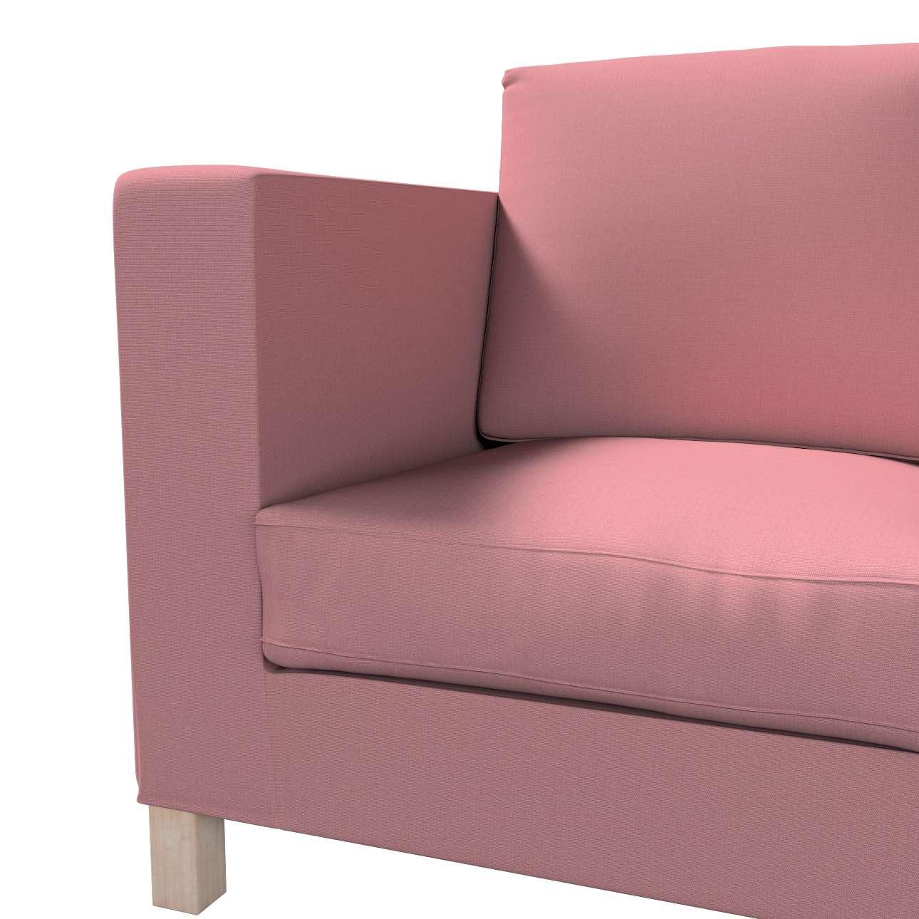 Bezug für Karlanda 3-Sitzer Sofa nicht ausklappbar, kurz von der Kollektion Cotton Panama, Stoff: 702-43