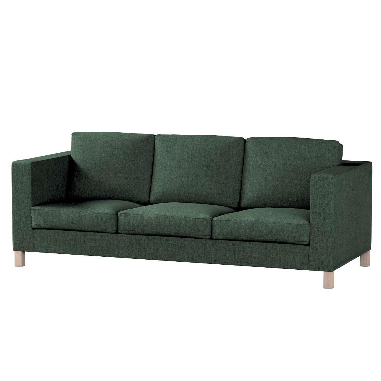 Pokrowiec na sofę Karlanda 3-osobową nierozkładaną, krótki w kolekcji City, tkanina: 704-81