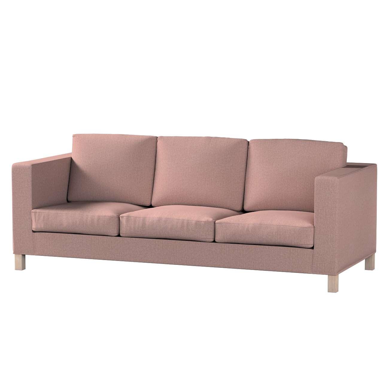 Pokrowiec na sofę Karlanda 3-osobową nierozkładaną, krótki w kolekcji City, tkanina: 704-83