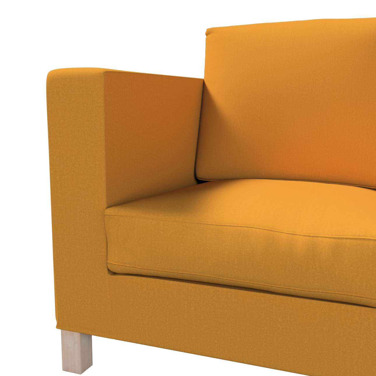 Pokrowiec na sofę Karlanda 3-osobową nierozkładaną, krótki w kolekcji Living, tkanina: 161-64