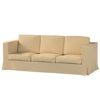 Pokrowiec na sofę Karlanda 3-osobową nierozkładaną, długi w kolekcji Cotton Panama, tkanina: 702-01