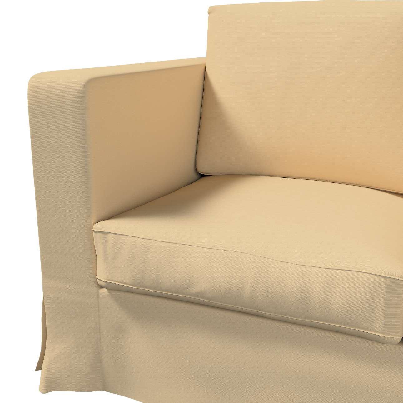 Karlanda 3-Sitzer Sofabezug nicht ausklappbar lang von der Kollektion Cotton Panama, Stoff: 702-01