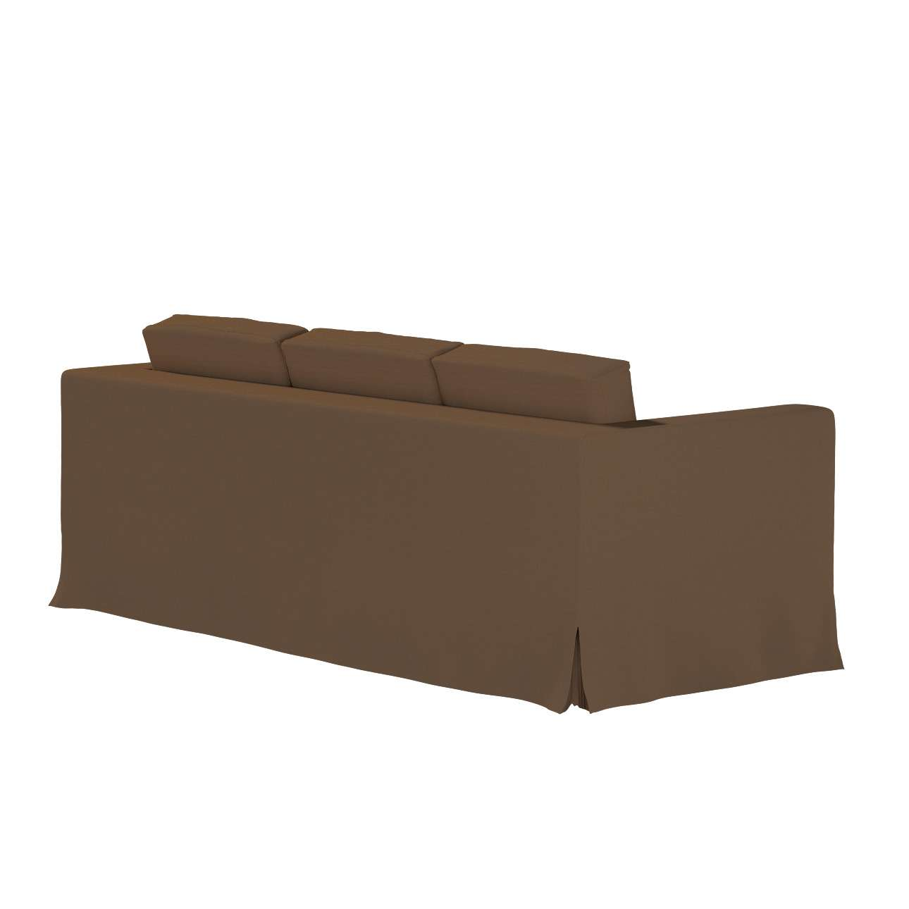 Karlanda 3-Sitzer Sofabezug nicht ausklappbar lang von der Kollektion Cotton Panama, Stoff: 702-02