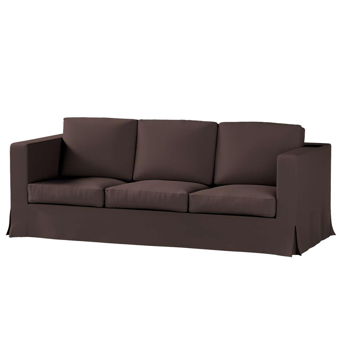 Karlanda klädsel 3-sits soffa - lång i kollektionen Panama Cotton, Tyg: 702-03