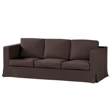 Karlanda 3-Sitzer Sofabezug nicht ausklappbar lang von der Kollektion Cotton Panama, Stoff: 702-03