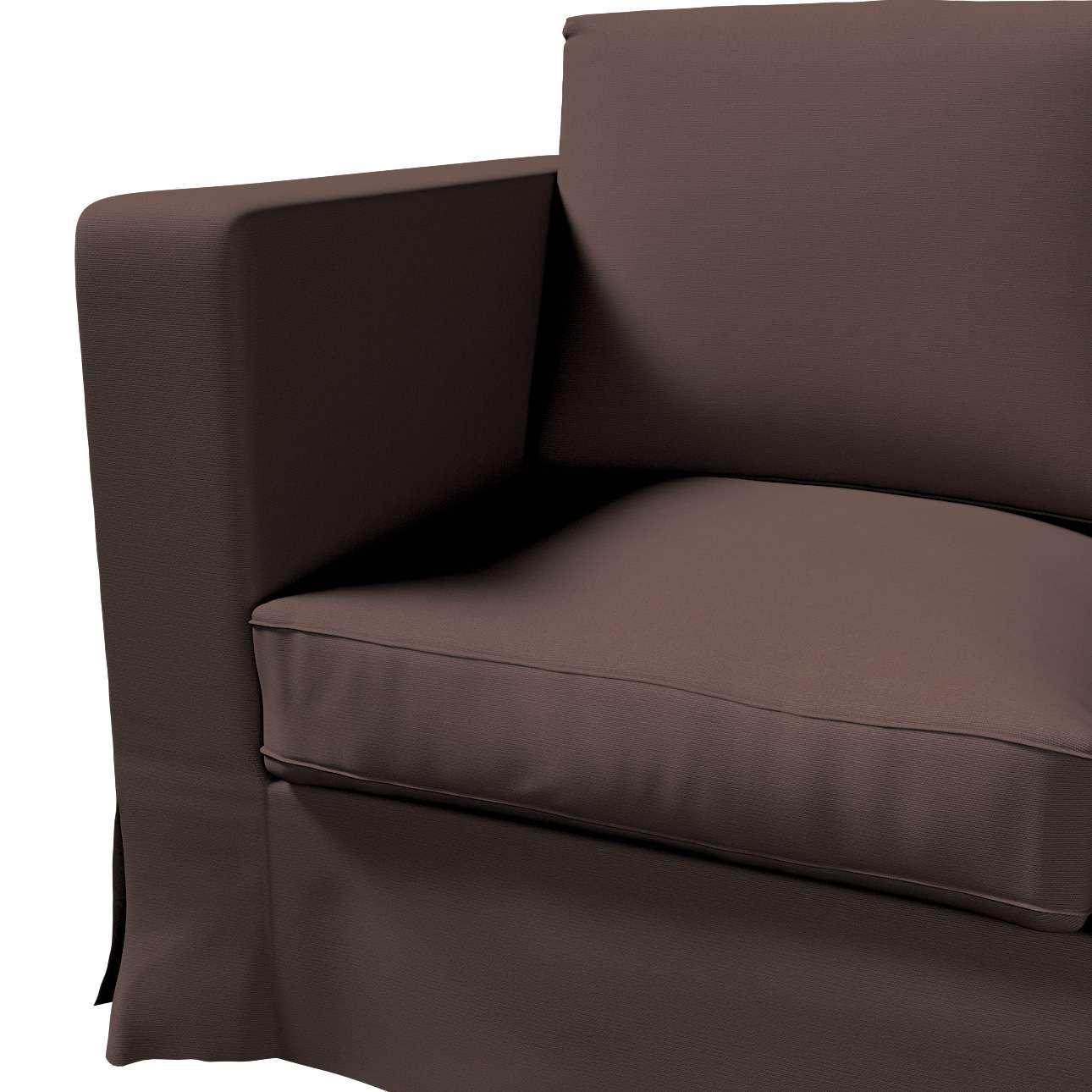 Pokrowiec na sofę Karlanda 3-osobową nierozkładaną, długi w kolekcji Cotton Panama, tkanina: 702-03