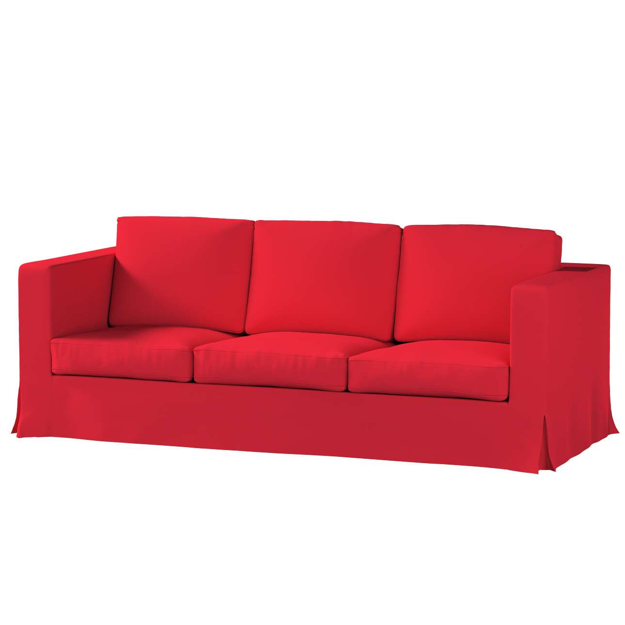 Pokrowiec na sofę Karlanda 3-osobową nierozkładaną, długi Sofa Karlanda 3-os w kolekcji Cotton Panama, tkanina: 702-04