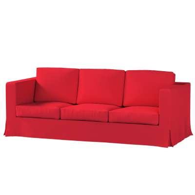 Karlanda 3-Sitzer Sofabezug nicht ausklappbar lang von der Kollektion Cotton Panama, Stoff: 702-04