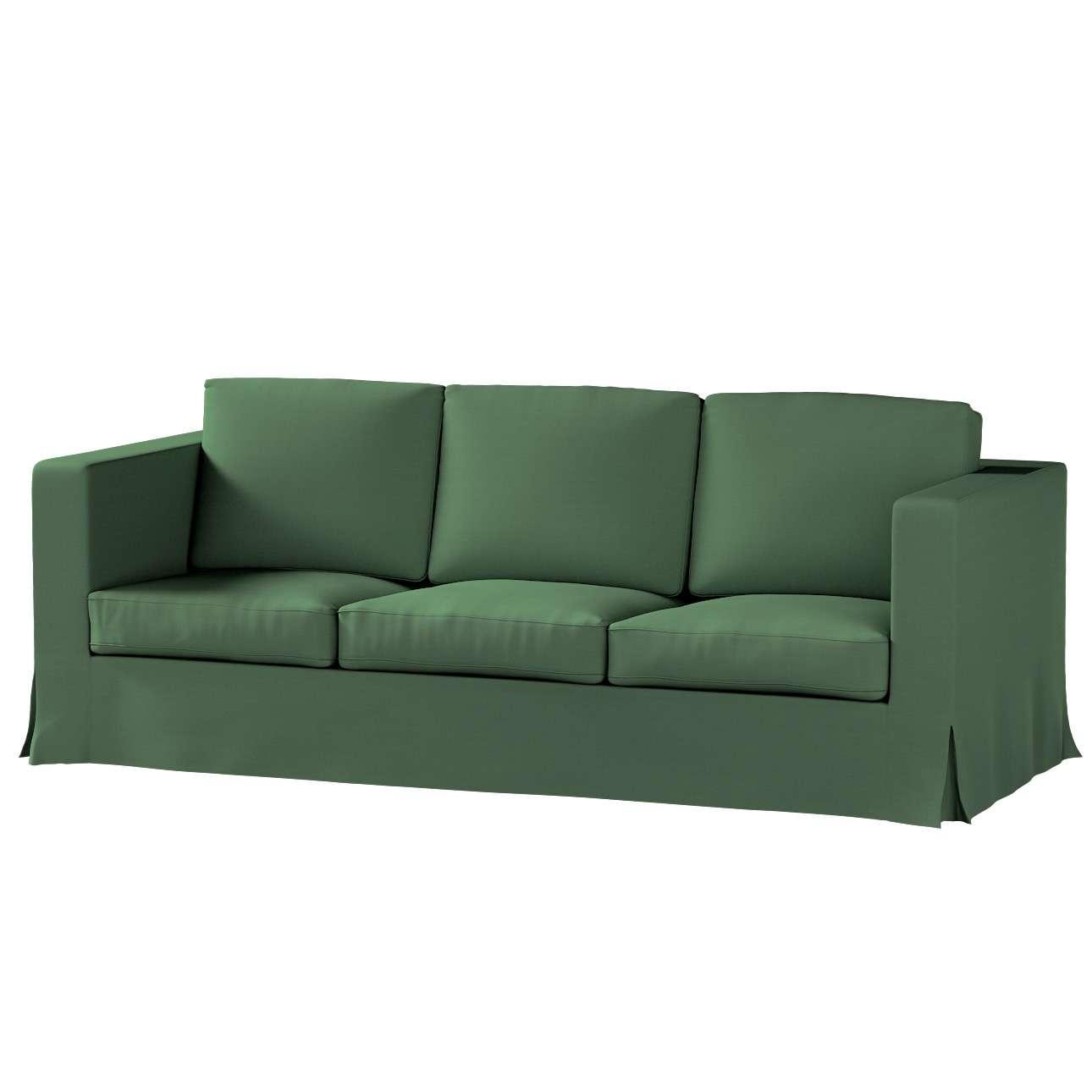 Pokrowiec na sofę Karlanda 3-osobową nierozkładaną, długi Sofa Karlanda 3-os w kolekcji Cotton Panama, tkanina: 702-06
