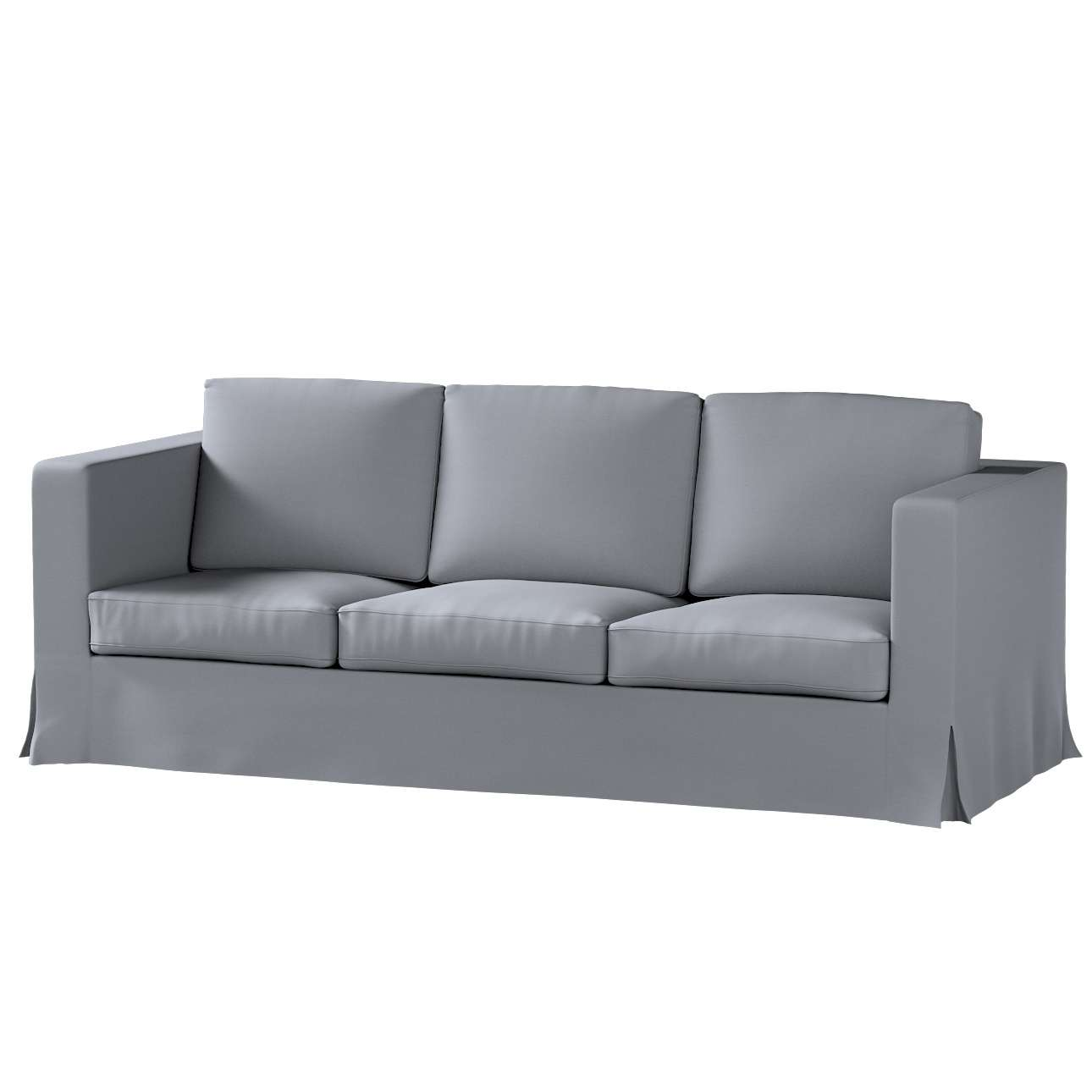 Pokrowiec na sofę Karlanda 3-osobową nierozkładaną, długi Sofa Karlanda 3-os w kolekcji Cotton Panama, tkanina: 702-07