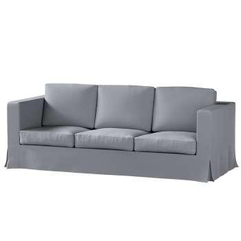 Karlanda 3-Sitzer Sofabezug nicht ausklappbar lang von der Kollektion Cotton Panama, Stoff: 702-07