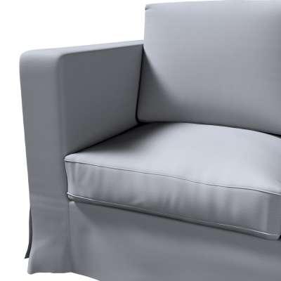 Pokrowiec na sofę Karlanda 3-osobową nierozkładaną, długi w kolekcji Cotton Panama, tkanina: 702-07