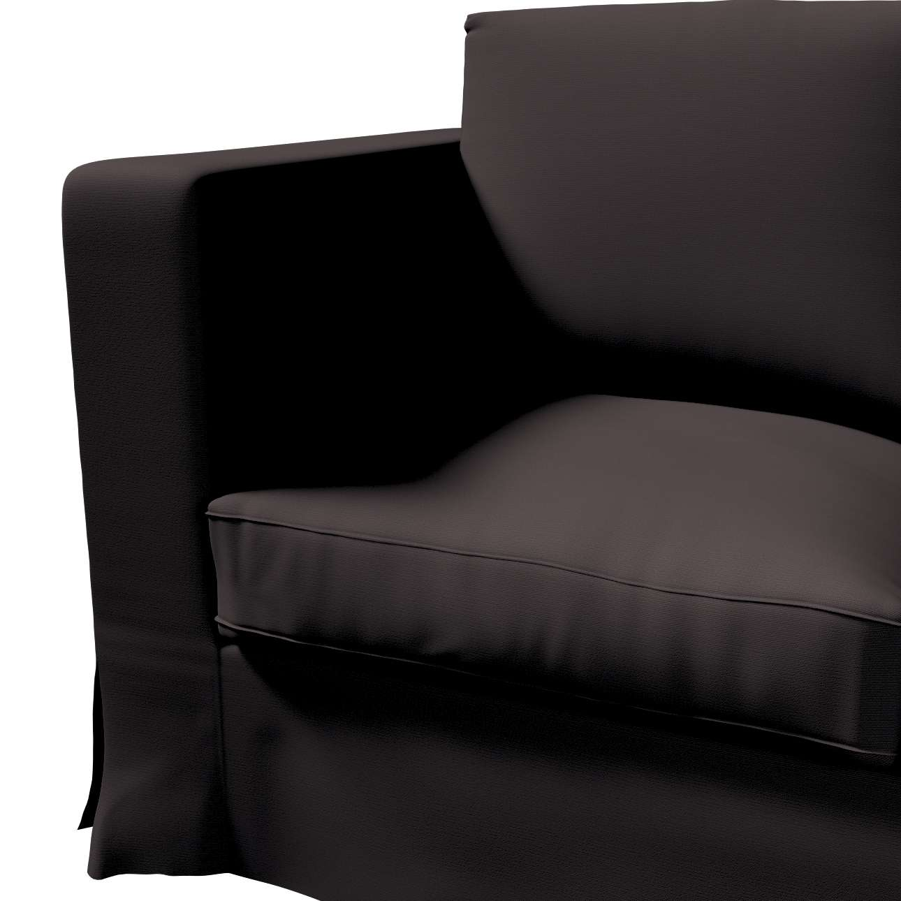 Bezug für Karlanda 3-Sitzer Sofa nicht ausklappbar, lang von der Kollektion Cotton Panama, Stoff: 702-09