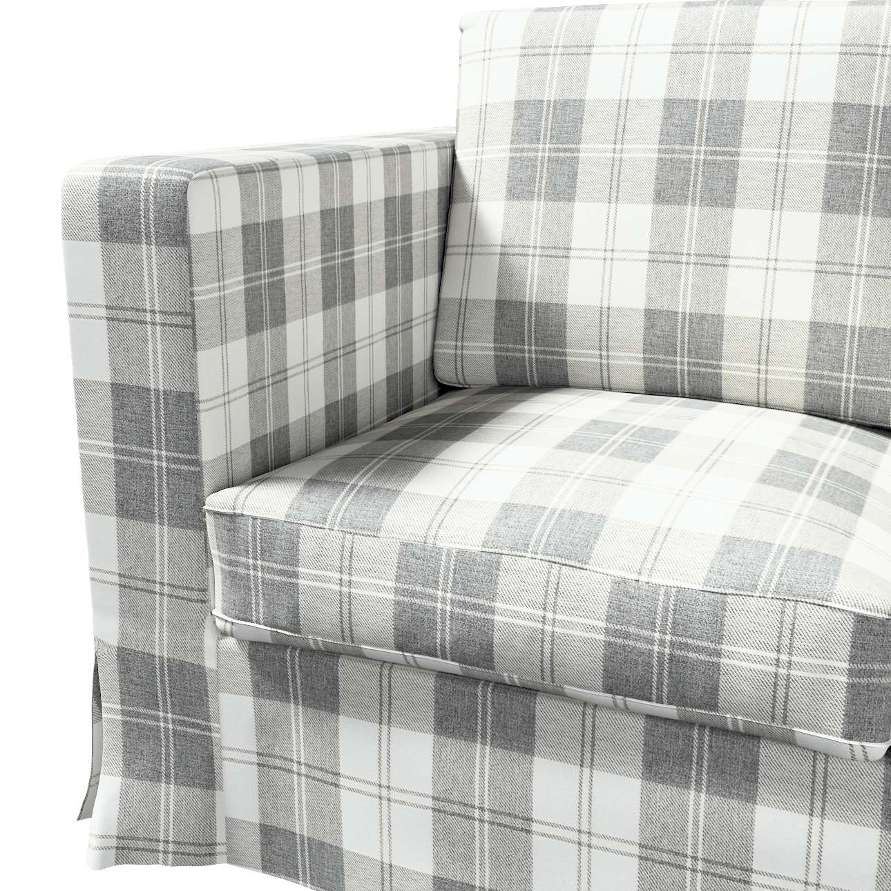 Karlanda 3-üléses  kanapé huzat nem kinyitható hosszú a kollekcióból Edinburgh Bútorszövet, Dekoranyag: 115-79