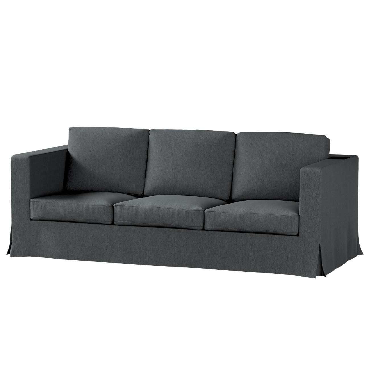 Pokrowiec na sofę Karlanda 3-osobową nierozkładaną, długi Sofa Karlanda 3-os w kolekcji Chenille, tkanina: 702-20