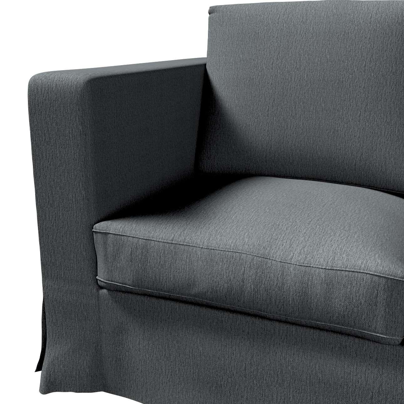 Karlanda klädsel 3-sits soffa - lång i kollektionen Chenille, Tyg: 702-20