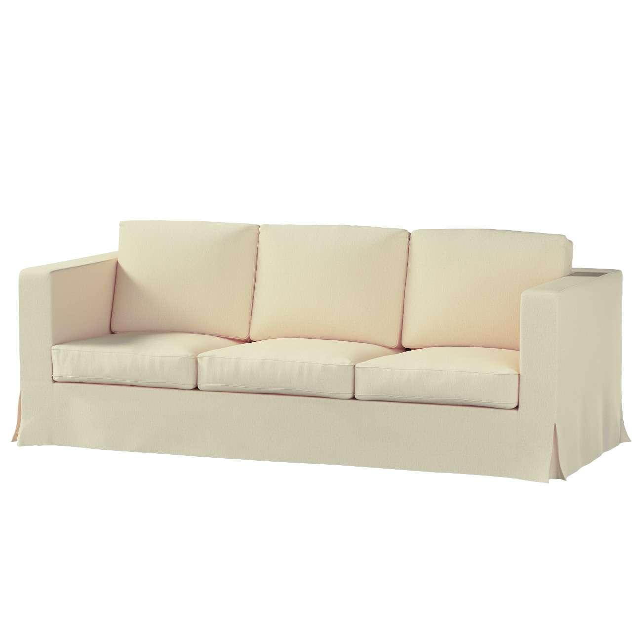Pokrowiec na sofę Karlanda 3-osobową nierozkładaną, długi Sofa Karlanda 3-os w kolekcji Chenille, tkanina: 702-22
