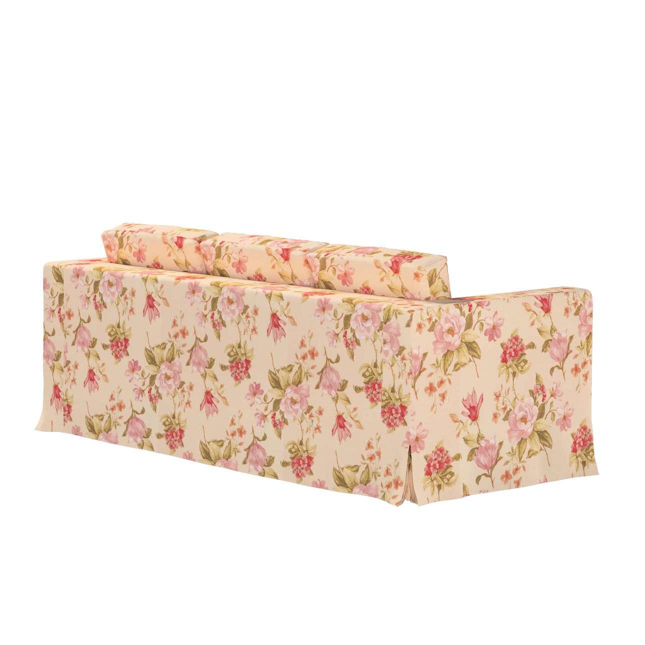 Pokrowiec na sofę Karlanda 3-osobową nierozkładaną, długi w kolekcji Londres, tkanina: 123-05