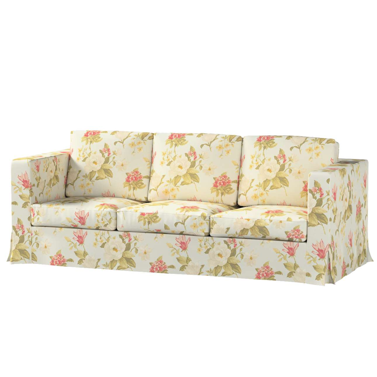 Karlanda 3-üléses  kanapé huzat nem kinyitható hosszú a kollekcióból Londres Bútorszövet, Dekoranyag: 123-65