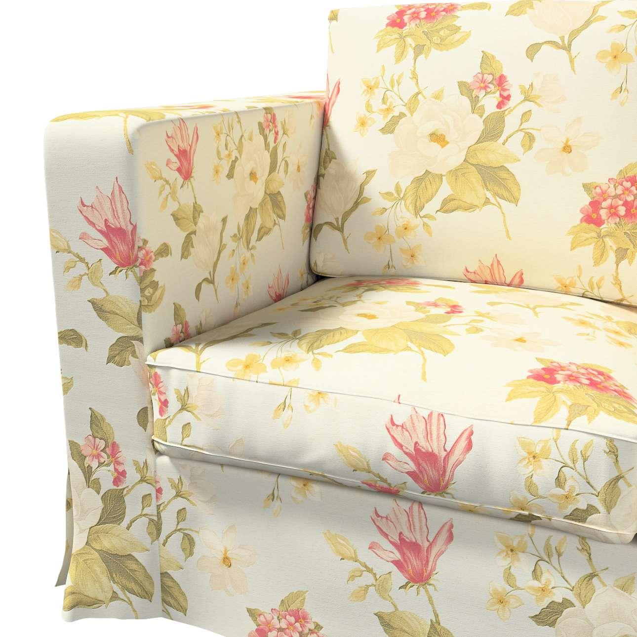 Karlanda 3-Sitzer Sofabezug nicht ausklappbar lang von der Kollektion Londres, Stoff: 123-65