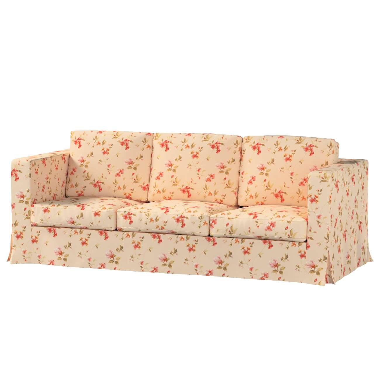 Karlanda 3-Sitzer Sofabezug nicht ausklappbar lang von der Kollektion Londres, Stoff: 124-05