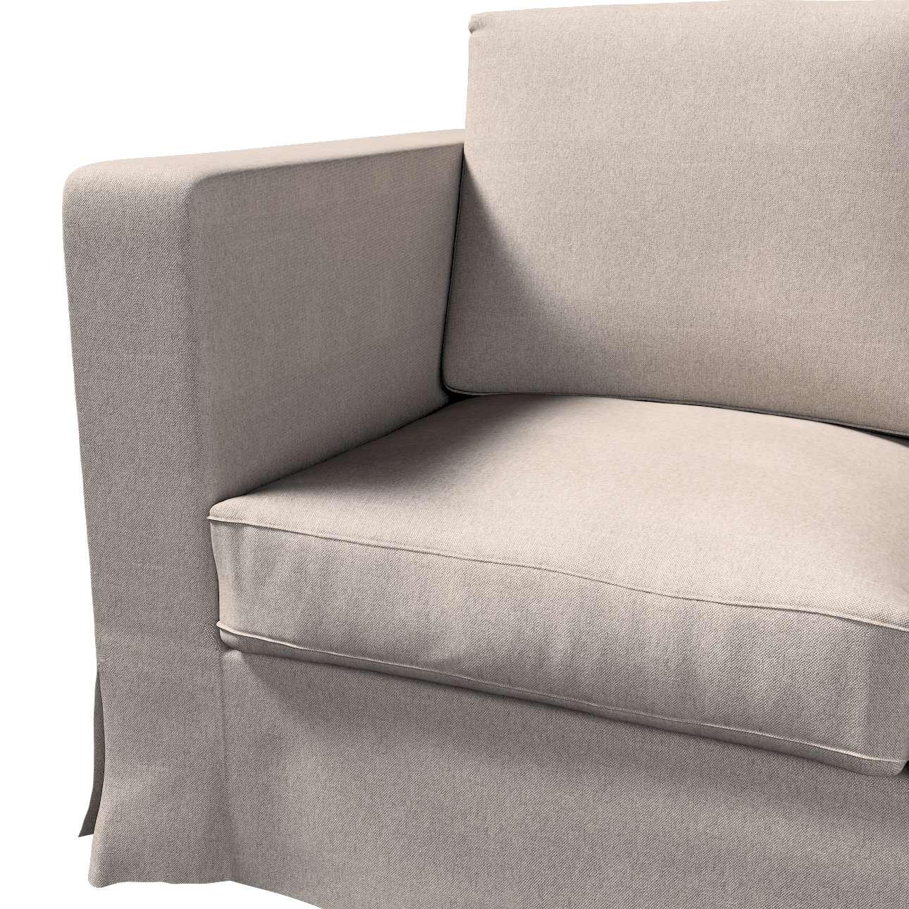 Pokrowiec na sofę Karlanda 3-osobową nierozkładaną, długi w kolekcji Etna, tkanina: 705-09