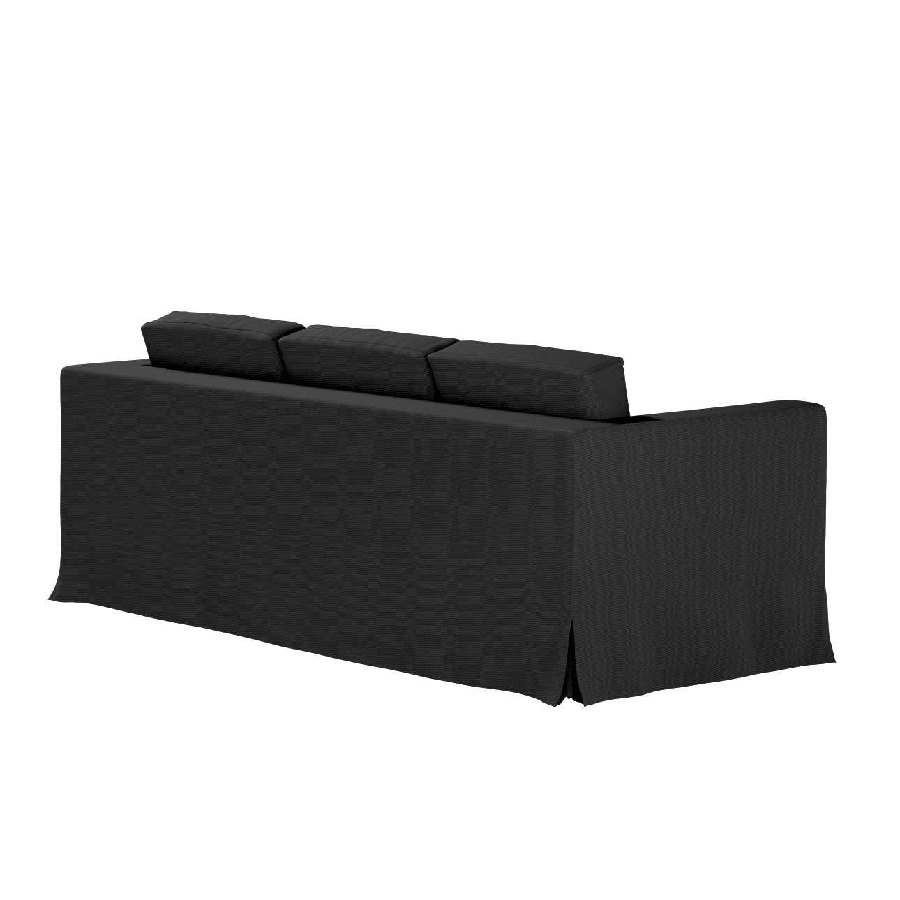 Pokrowiec na sofę Karlanda 3-osobową nierozkładaną, długi w kolekcji Etna, tkanina: 705-00