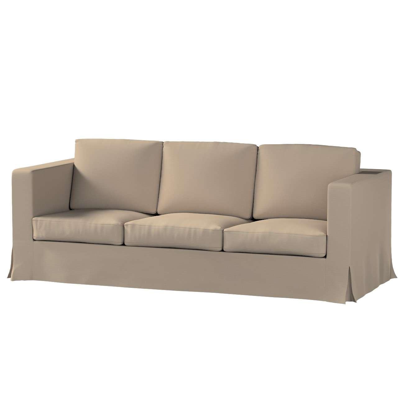 Pokrowiec na sofę Karlanda 3-osobową nierozkładaną, długi Sofa Karlanda 3-os w kolekcji Cotton Panama, tkanina: 702-28
