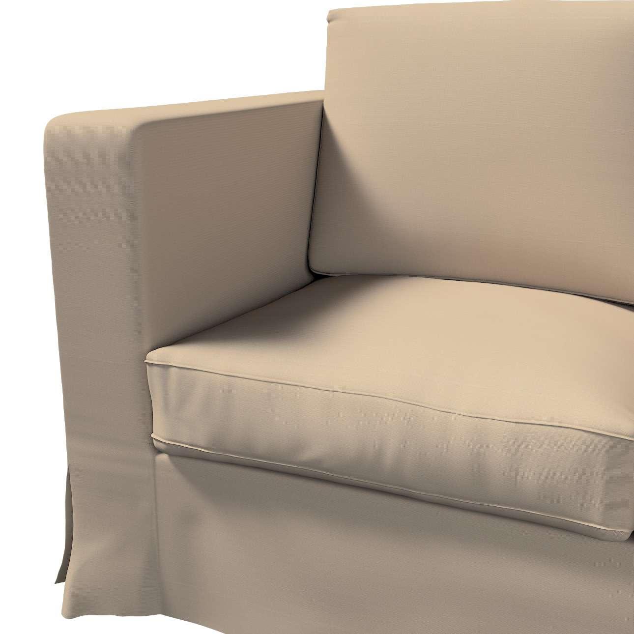 Bezug für Karlanda 3-Sitzer Sofa nicht ausklappbar, lang von der Kollektion Cotton Panama, Stoff: 702-28