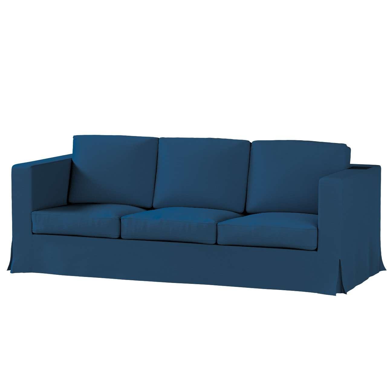 Bezug für Karlanda 3-Sitzer Sofa nicht ausklappbar, lang von der Kollektion Cotton Panama, Stoff: 702-30