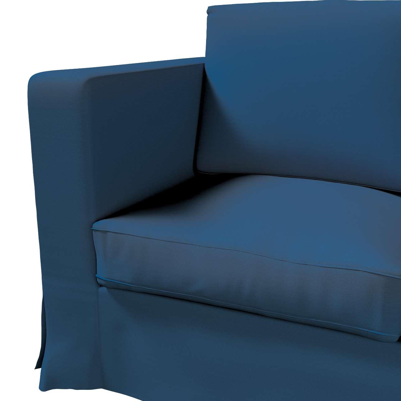 Pokrowiec na sofę Karlanda 3-osobową nierozkładaną, długi w kolekcji Cotton Panama, tkanina: 702-30