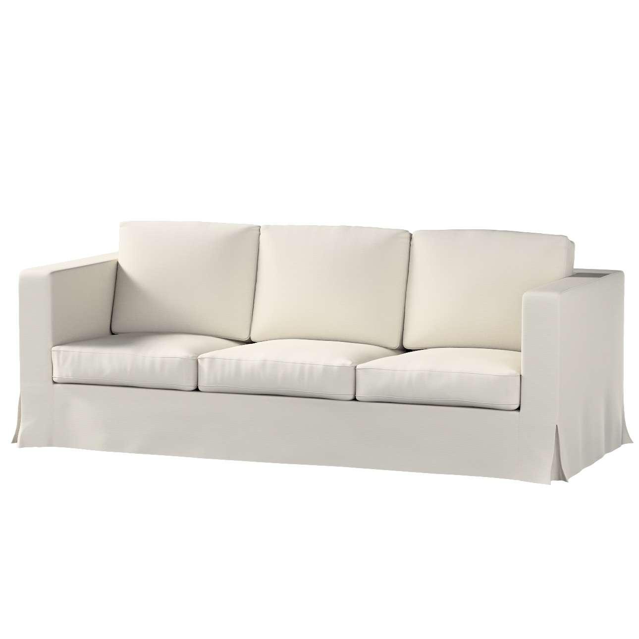 Pokrowiec na sofę Karlanda 3-osobową nierozkładaną, długi Sofa Karlanda 3-os w kolekcji Cotton Panama, tkanina: 702-31