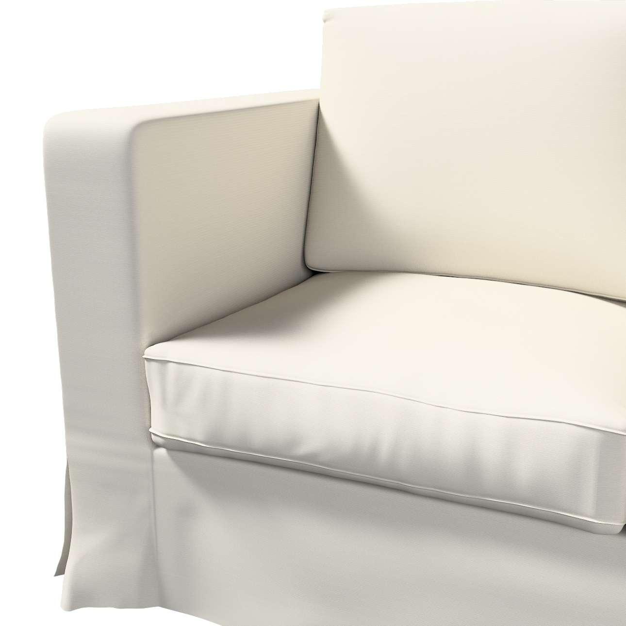 Bezug für Karlanda 3-Sitzer Sofa nicht ausklappbar, lang von der Kollektion Cotton Panama, Stoff: 702-31