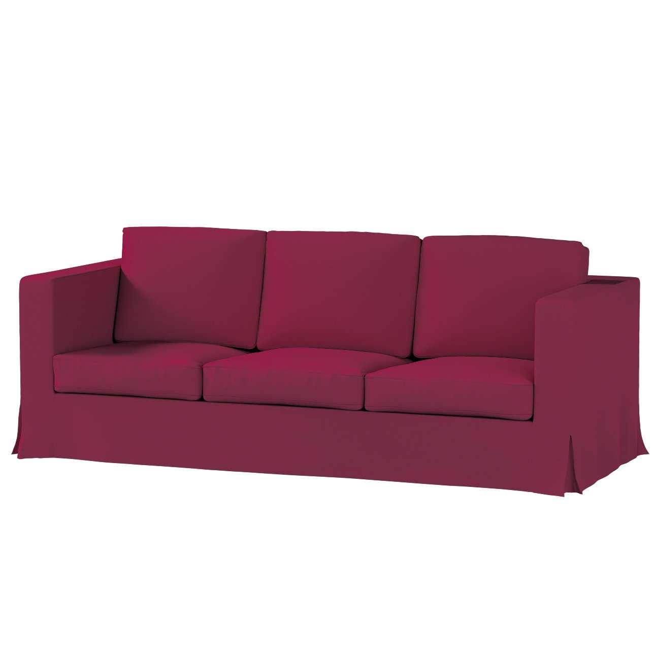 Bezug für Karlanda 3-Sitzer Sofa nicht ausklappbar, lang von der Kollektion Cotton Panama, Stoff: 702-32