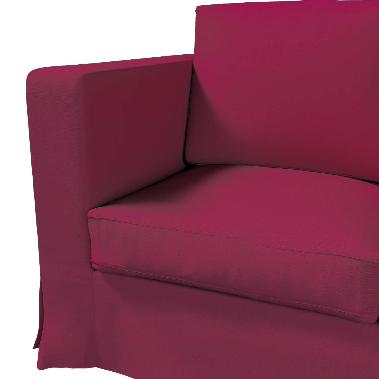Pokrowiec na sofę Karlanda 3-osobową nierozkładaną, długi w kolekcji Cotton Panama, tkanina: 702-32