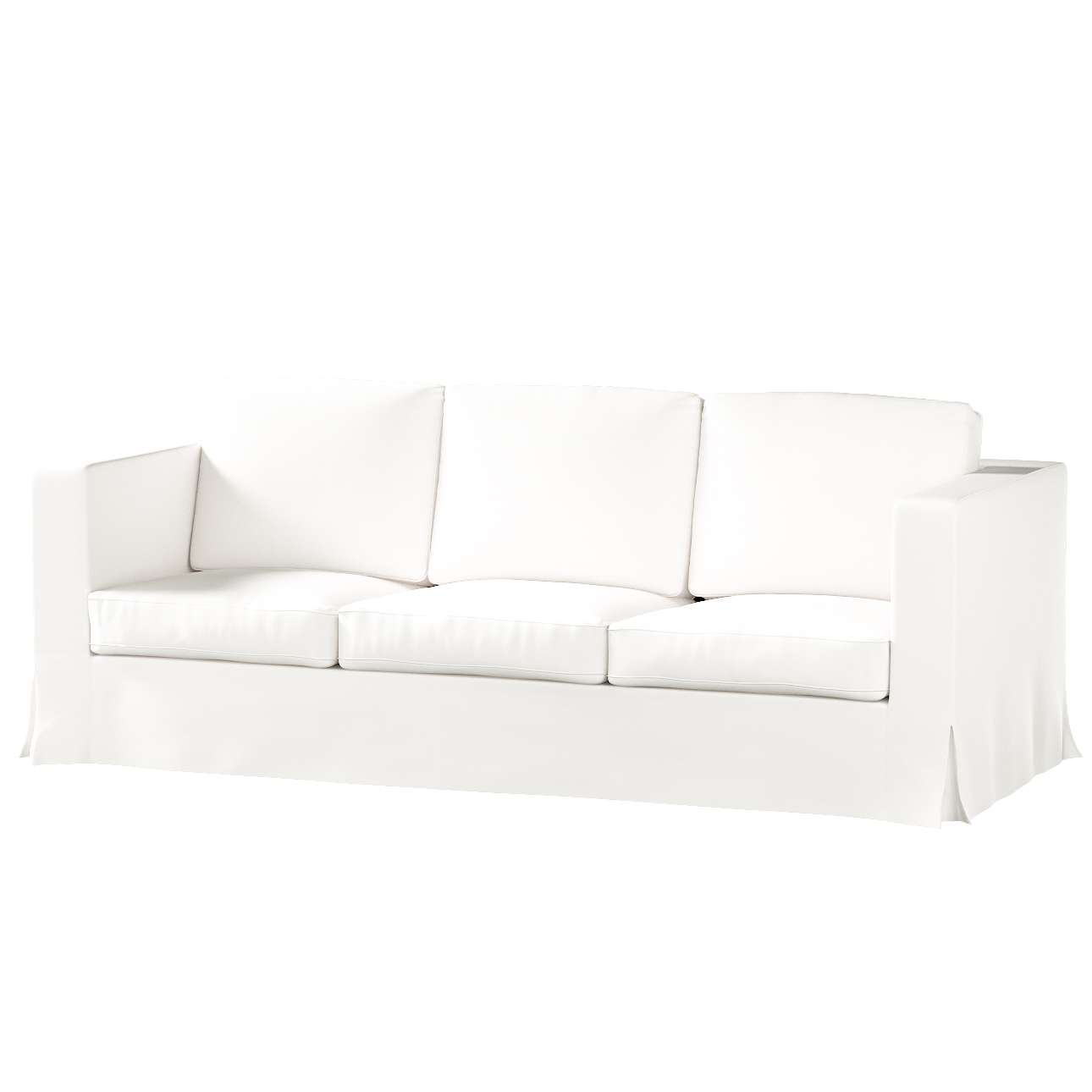 Karlanda betræk 3 sæder, lang fra kollektionen Cotton Panama, Stof: 702-34