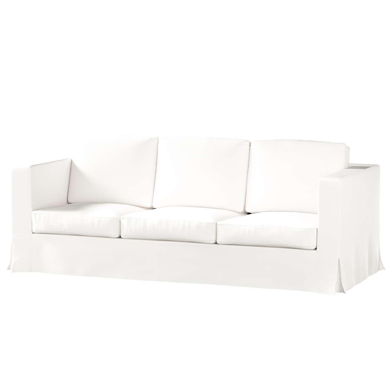 Pokrowiec na sofę Karlanda 3-osobową nierozkładaną, długi Sofa Karlanda 3-os w kolekcji Cotton Panama, tkanina: 702-34