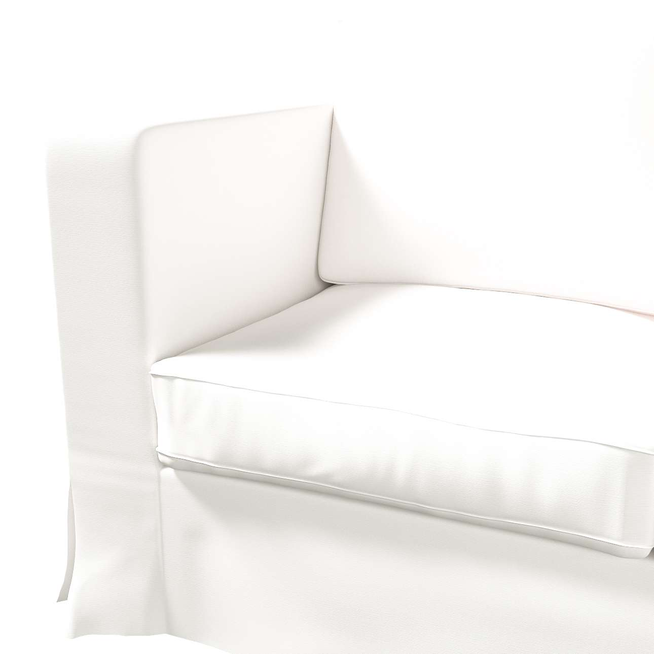 Bezug für Karlanda 3-Sitzer Sofa nicht ausklappbar, lang von der Kollektion Cotton Panama, Stoff: 702-34
