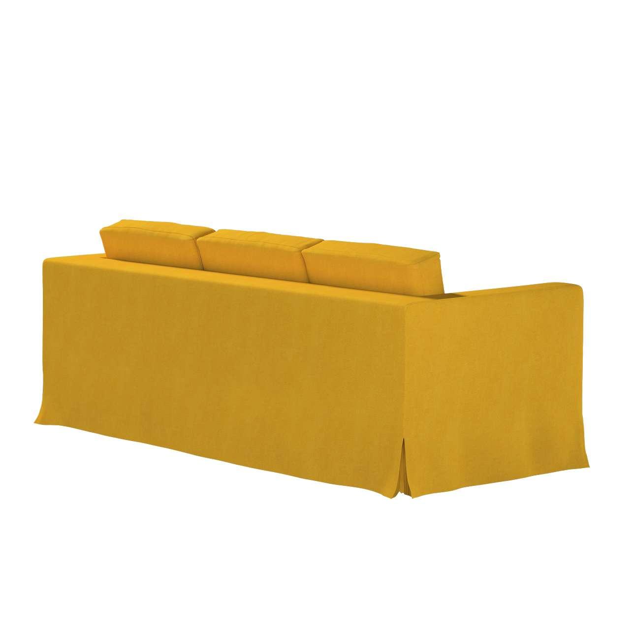 Pokrowiec na sofę Karlanda 3-osobową nierozkładaną, długi w kolekcji Etna, tkanina: 705-04