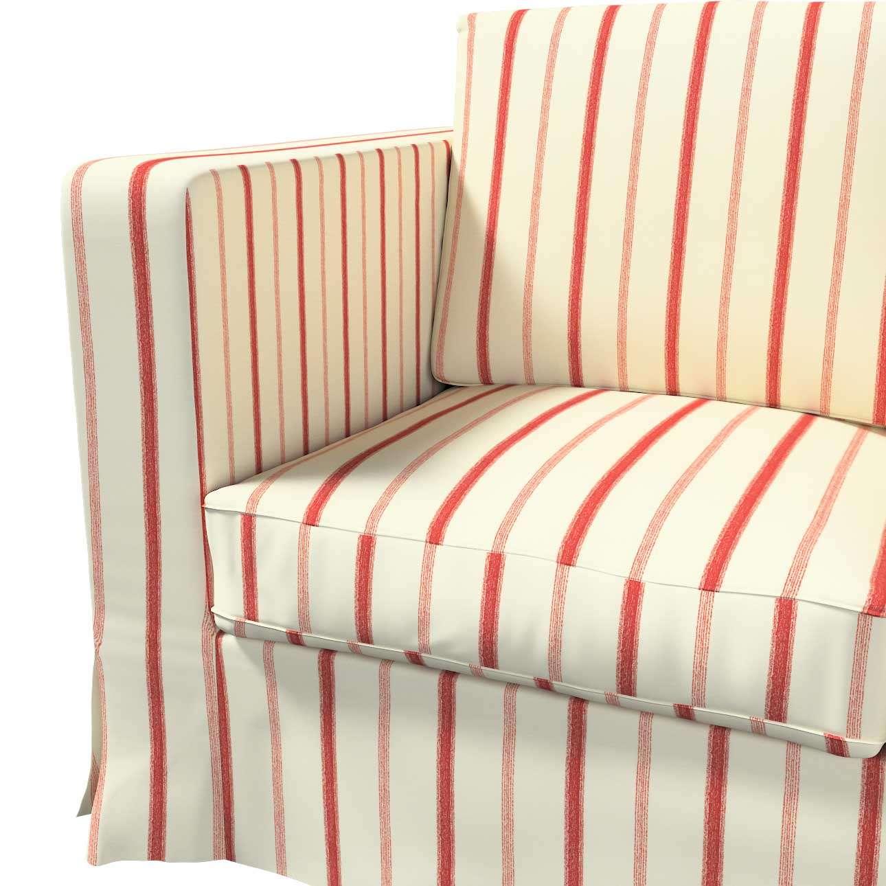 Pokrowiec na sofę Karlanda 3-osobową nierozkładaną, długi w kolekcji Avinon, tkanina: 129-15