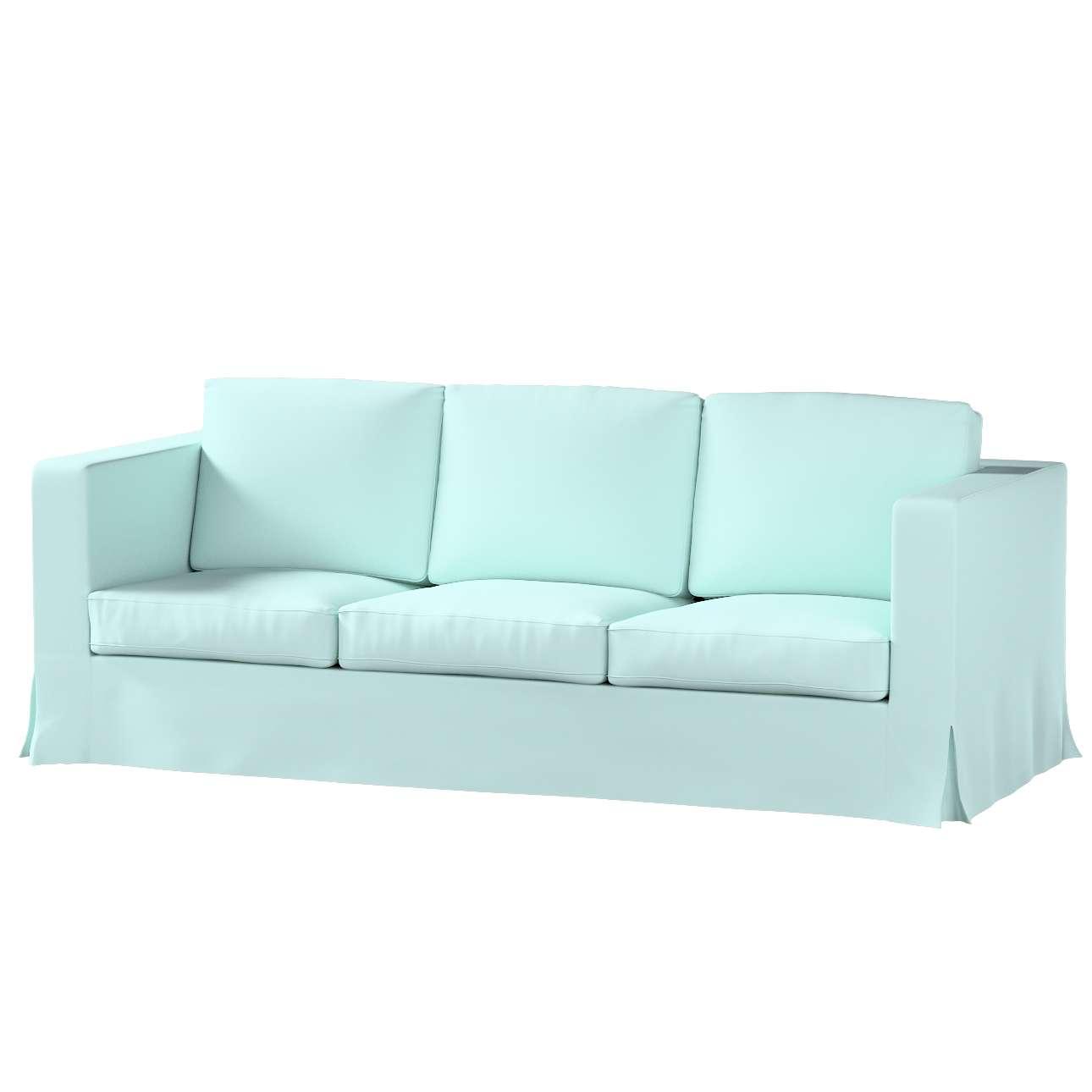 Karlanda Sofa Covers: Floor Length Karlanda 3-seater Sofa Cover, Pastel Blue